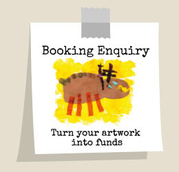 Book a project - turn your artwork into funds