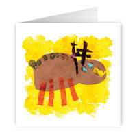 Card with reindeer design
